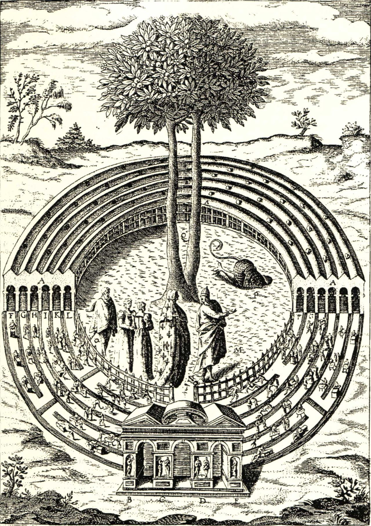 Detail of the labyrinth of avarice an engraved illustration from detail of the labyrinth of avarice an engraved illustration from del benes civitas veri biocorpaavc Gallery