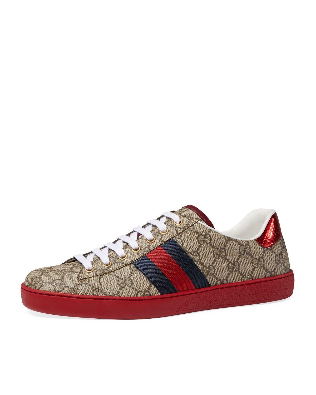 f1fa20df3bbf6f Gucci New Ace GG Supreme Low-Top Sneaker