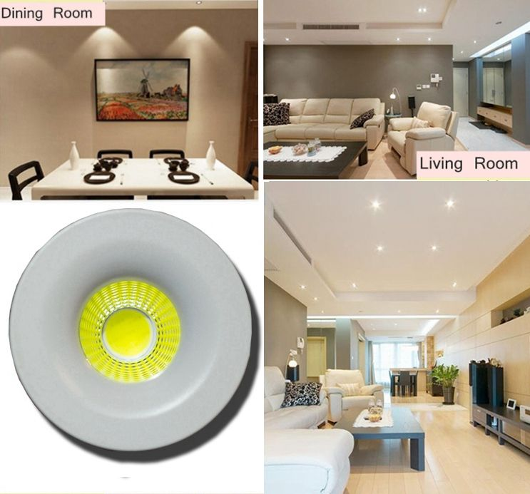 5x 3w Led Mini Spot Lampe Encastrable