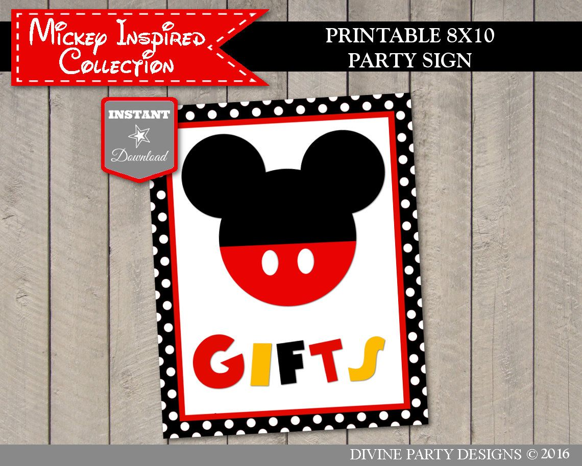 image about Free Printable Mickey Mouse Signs named Prompt Obtain Clic Mouse Printable 5x7 and 8x10 Presents