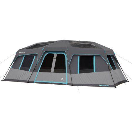 Ozark Trail 20 X 10 Dark Rest Instant Cabin Tent Sleeps 12 Gray Cabin Tent Tent Ozark Trail