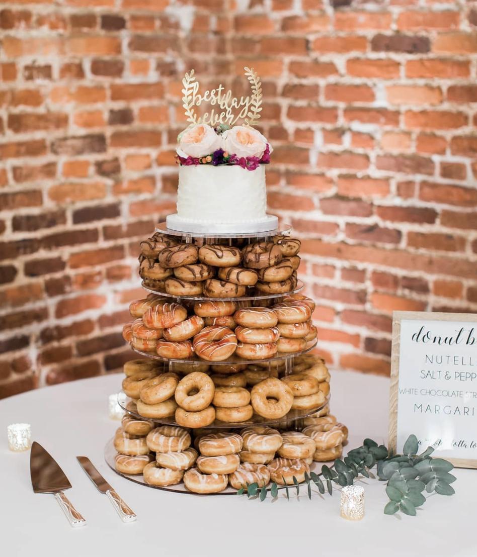Donut Wedding Cake Wilmington Weddings Wedding Cake Ideas Wilmington Nc Wedding Photographer Wedding Donuts North Carolina Wedding Nc Wedding