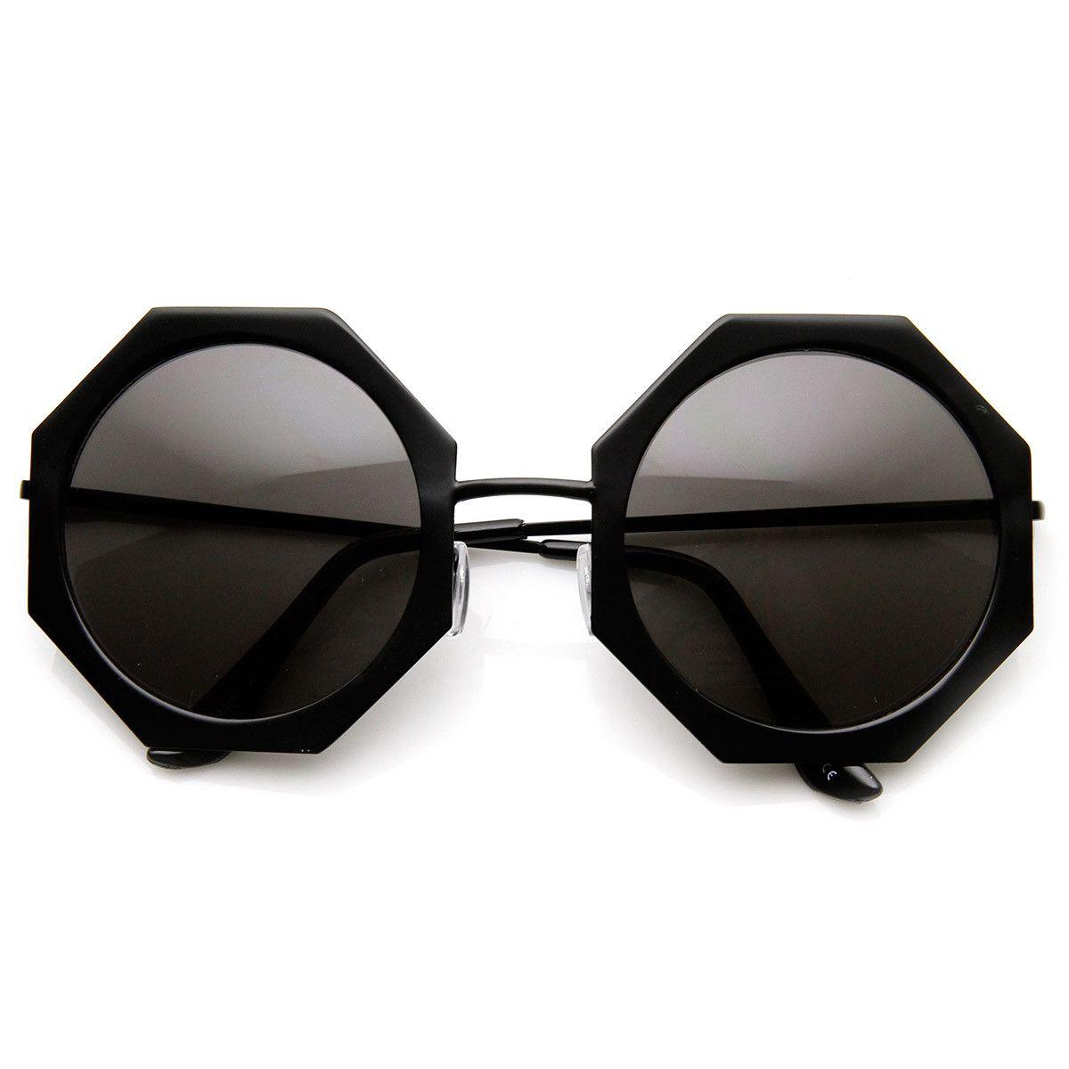 Oversize Aviator Round Design Men Women Fashion Style Brow Bar Metal Sunglasses