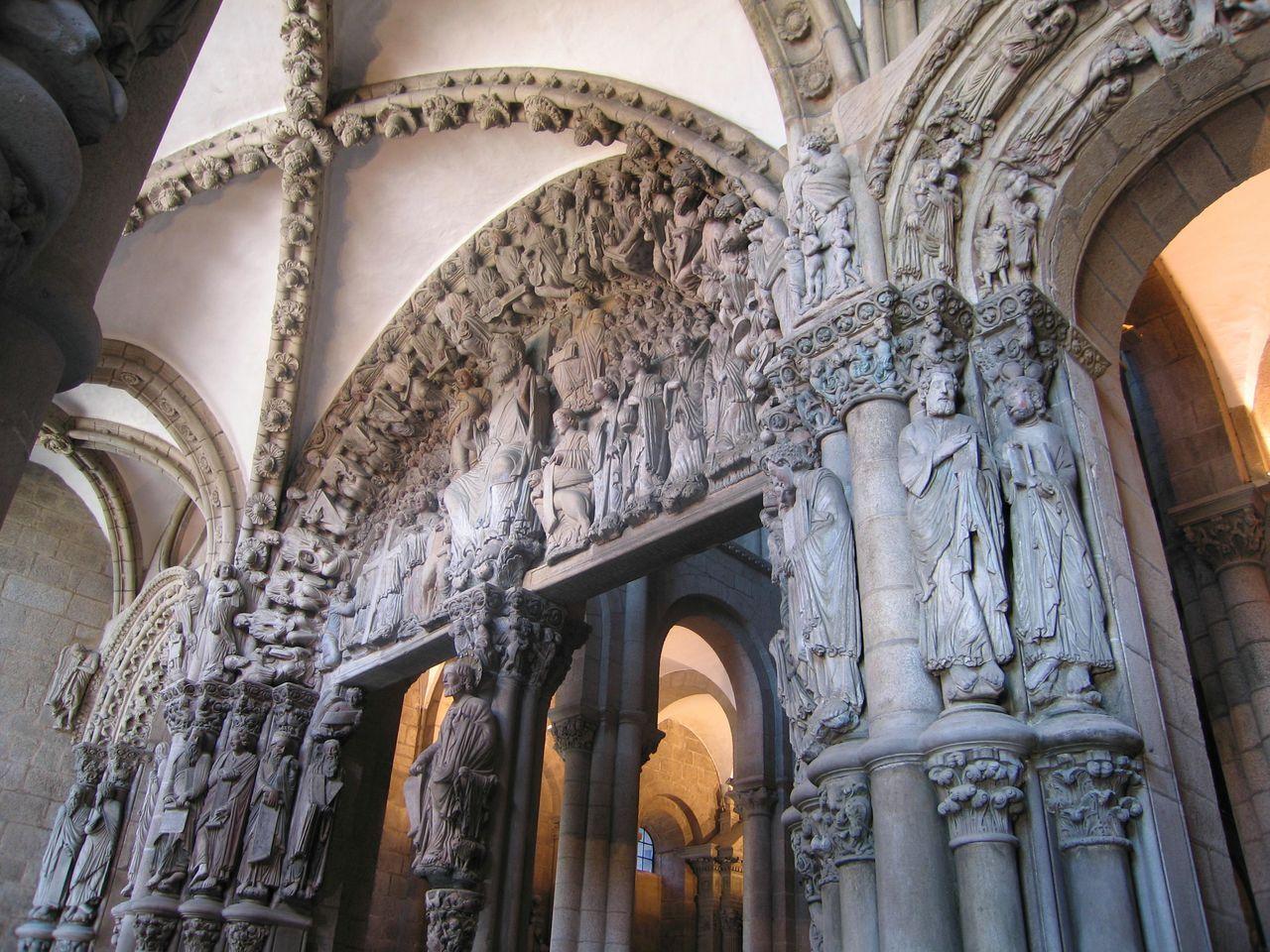 Catedral de santiago de compostela p rtico de la gloria arte rom nico santiago santiago de - Santiago de compostela arquitectura ...