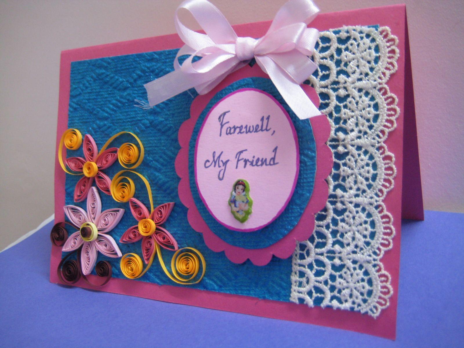Handmade Farewell Cards Card design handmade, Farewell