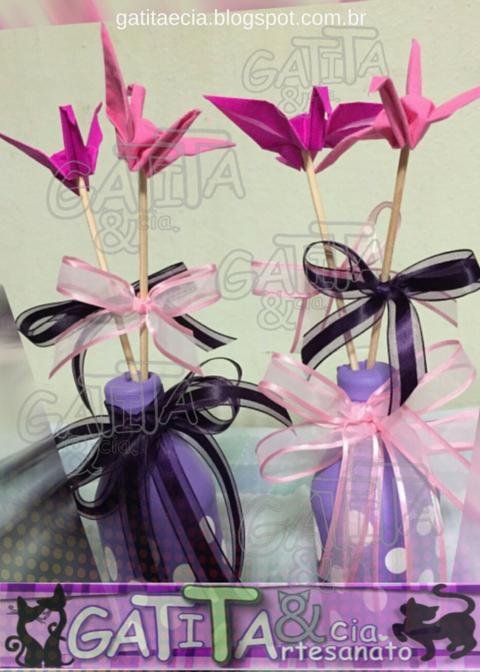 Tsuru, origami, crane, papel, paper, #efeitotsuru, garrafa com bexiga