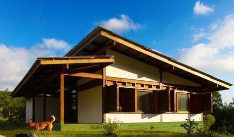 fachada-de-casa-de-campo-de-madera House Pinterest House - fachada madera