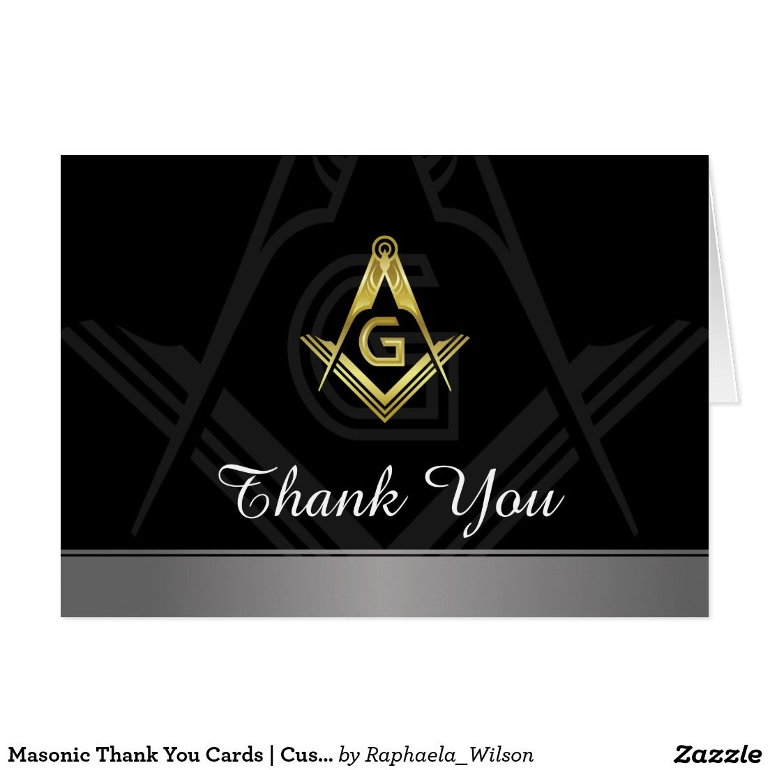 Masonic Thank You Cards | Custom Freemason Card | Freemason ...