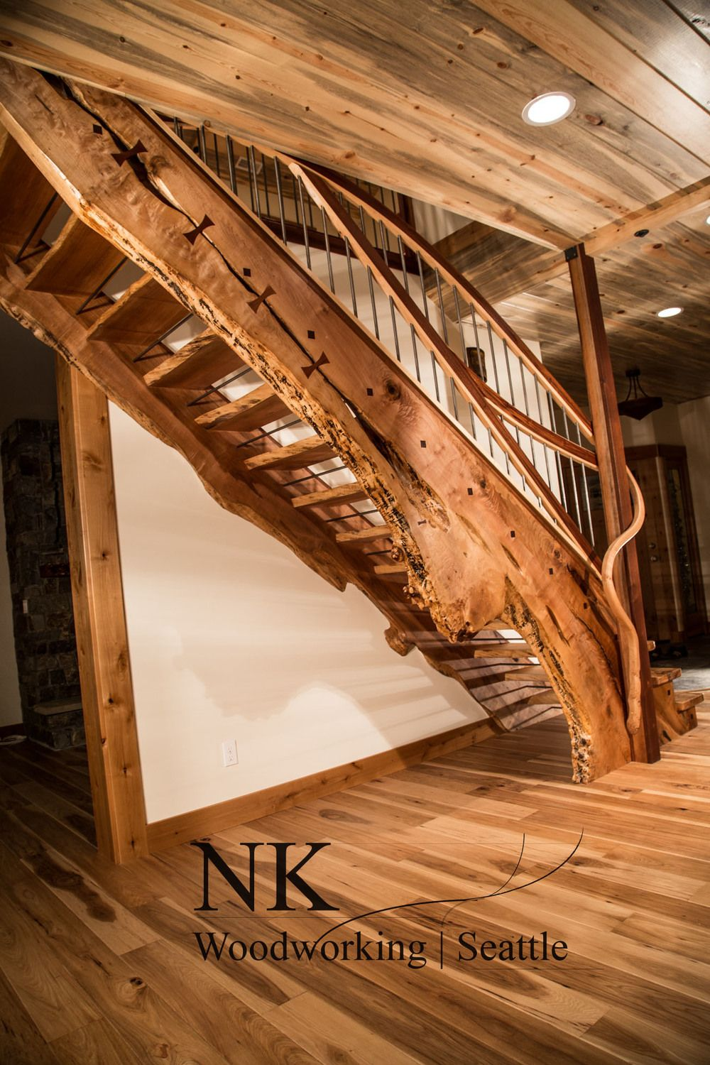 Best Curved Staircase Wood Slab Stair Case Is Amazing 400 x 300