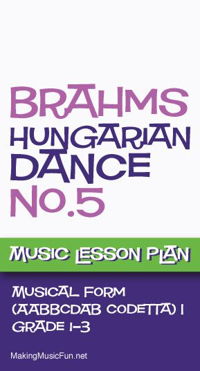 Hungarian Dance No  Free Music Lesson Plan Musical Form  Http