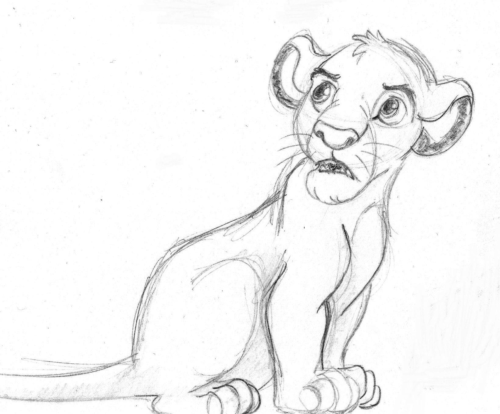 Uncategorized Lion King Sketch disney sketch simba the lion king art by anna helena king