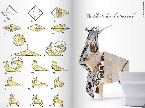 Оригами олень схема для детей