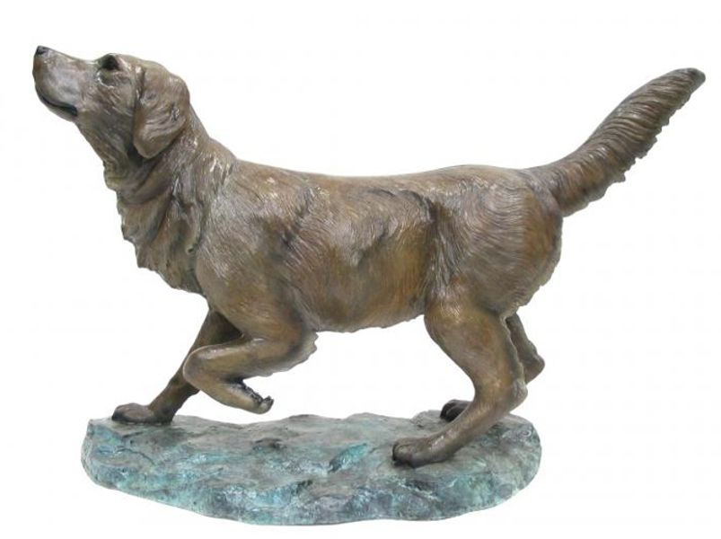 Bronze Golden Retriever Statue   The Bronze Warehouse