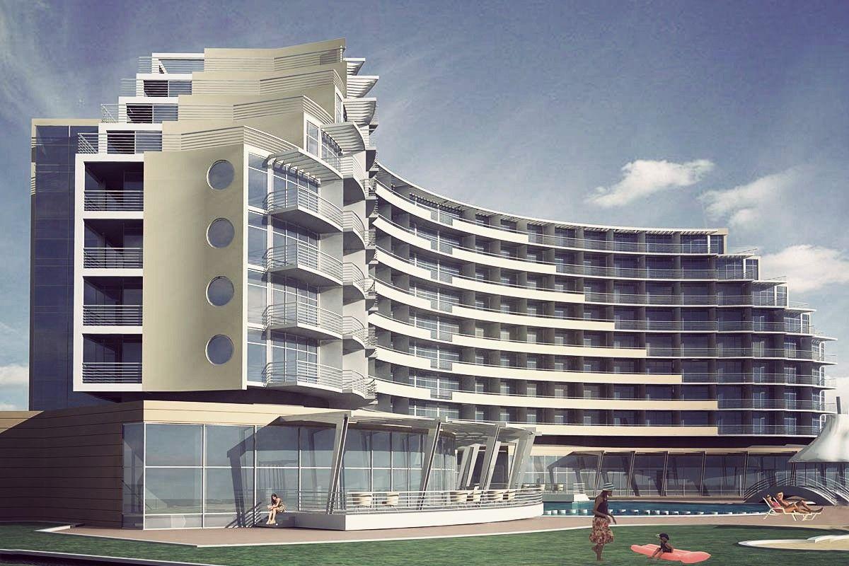 4 Star Hotel Architectural Design Concept Sunny Beach