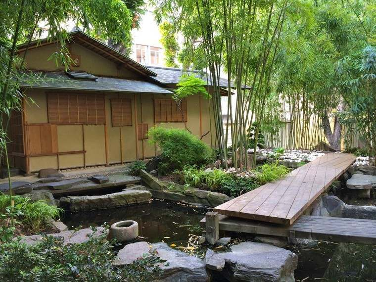 Jardin Japonais Avec Bassin D Eau Fountains Backyard Stone Backyard Backyard Design