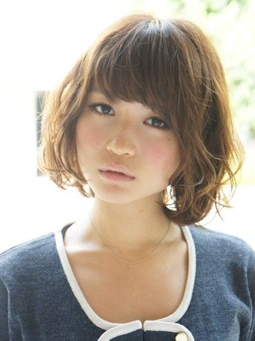 Short Wavy Japanese Hairstyle With Bangs Short Wavy Hair Short Hair Styles 2014 Short Wavy