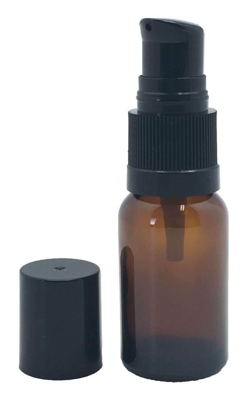 GotOilSupplies.com - 15 ml Boston Round Amber Bottles With Cream Pumps, $0.70 (https://www.gotoilsupplies.com/15-ml-boston-round-amber-bottles-with-cream-pumps/)