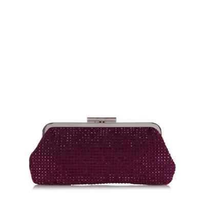 Debut Purple Rhinestone Embellished Clutch Bag At Debenhams