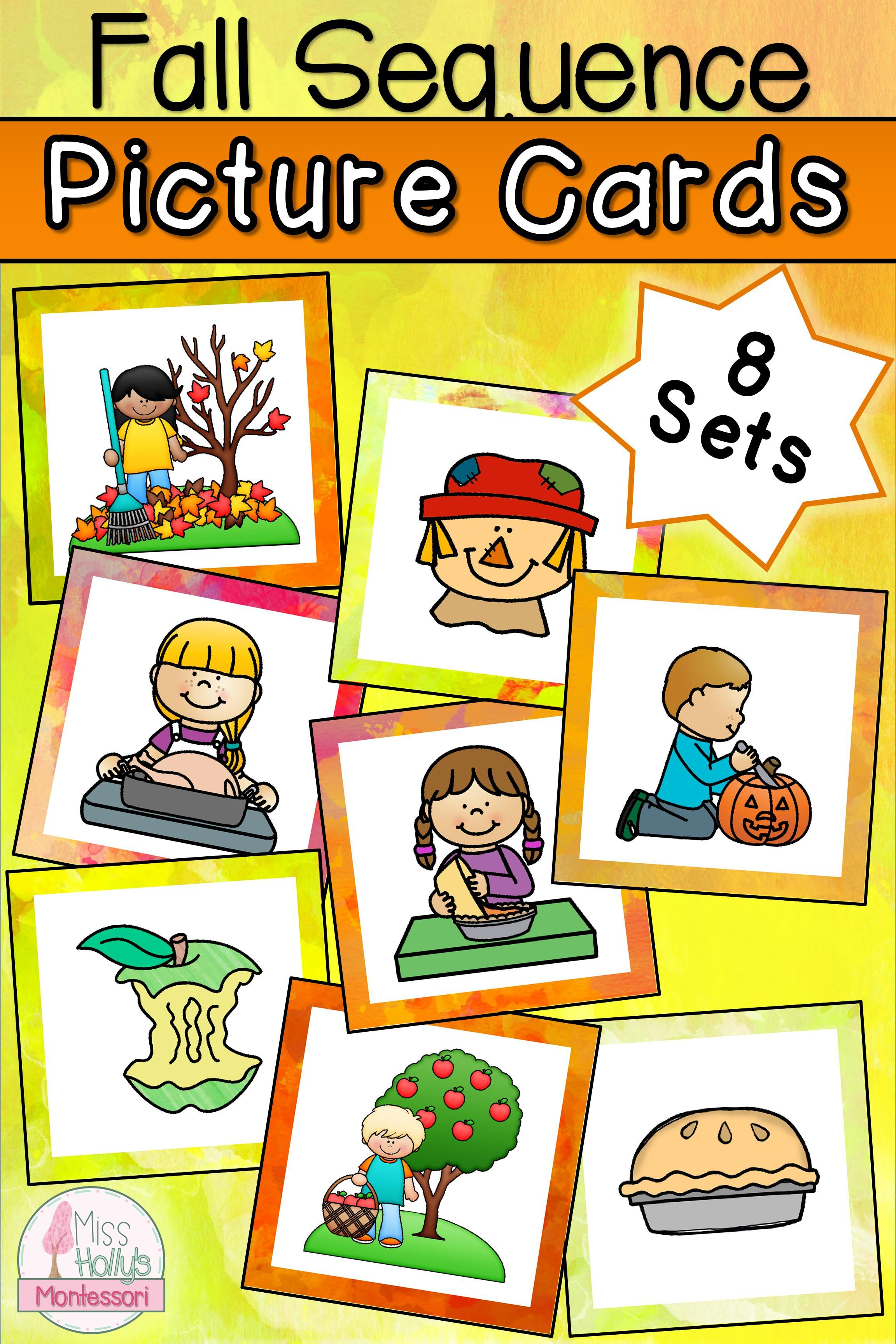 Fall Sequencing Picture Cards