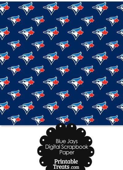 Toronto Blue Jays Logo Digital Paper From Printabletreats