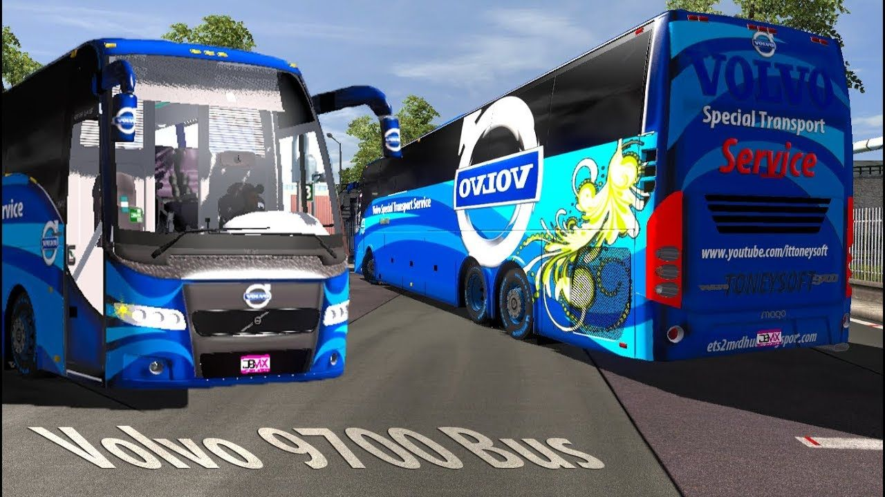 ets2 mods Volvo 9700 special transport 4K skin and bus mods