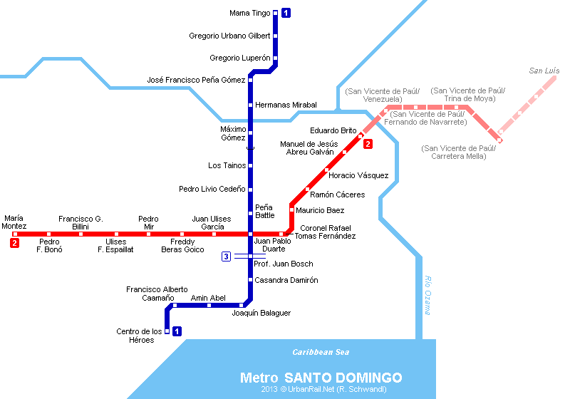 SANTO DOMINGO Metro Transit maps Pinterest Public transport