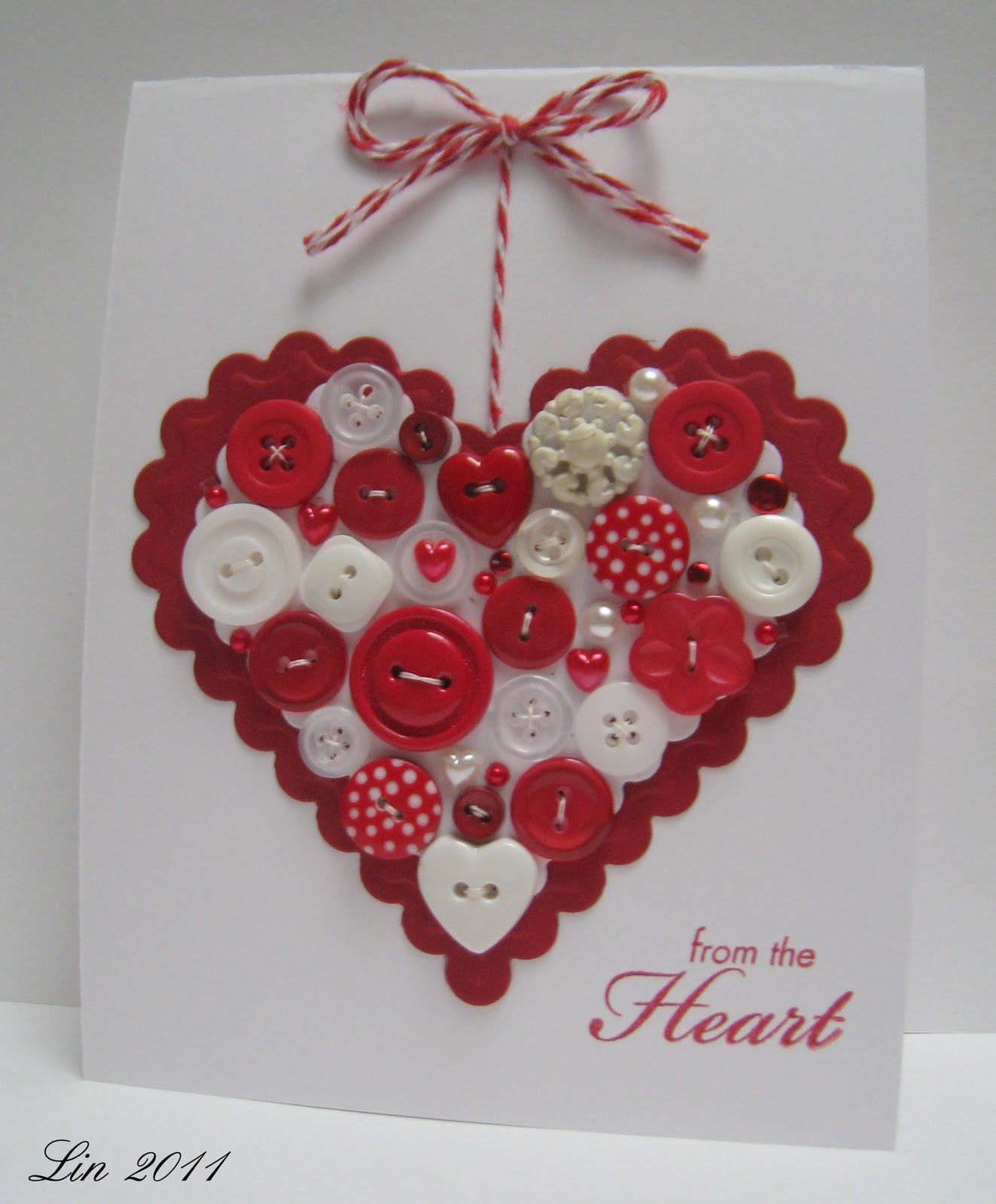 Heart Button Card By Lin From Lily Pad Beautiful More