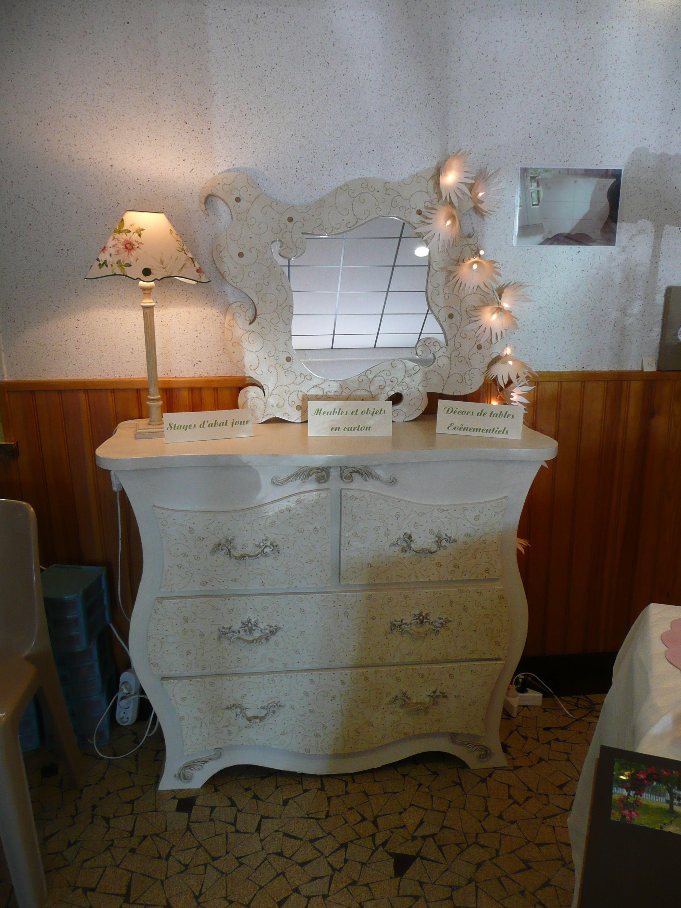 Commode Et Miroir En Carton Meubles En Carton Meuble En Carton Mobilier De Salon