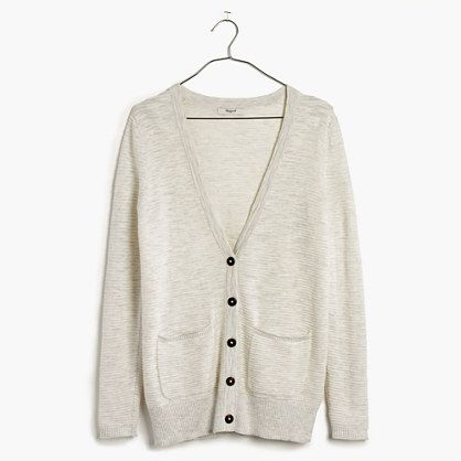 Madewell Striped Graduate Cardigan Sweater