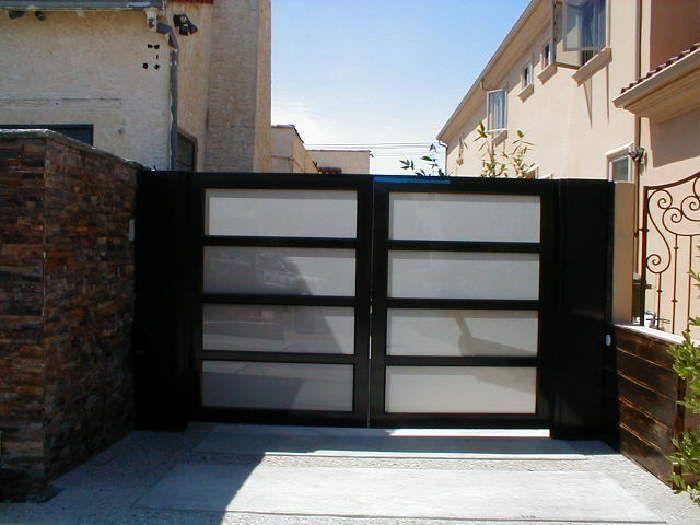 Black Glass Gate Driveway Gates In 2019 Glass Garage