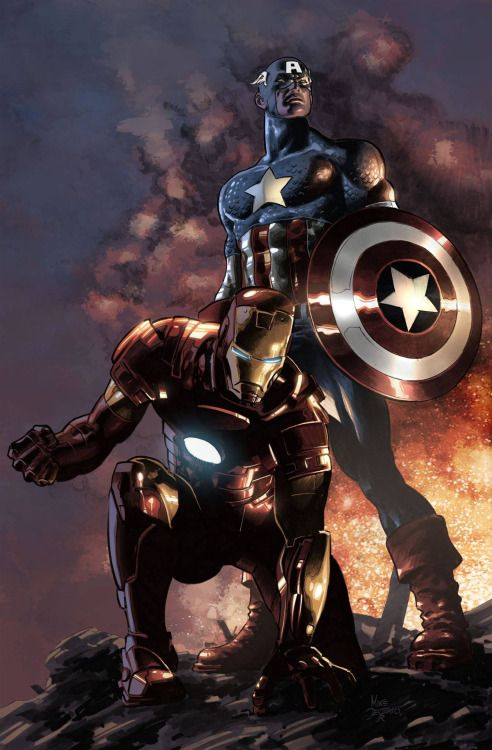 Iron Man and Captain America - Mike Deodato Jr., Colors - Bryan Arfel Magnaye