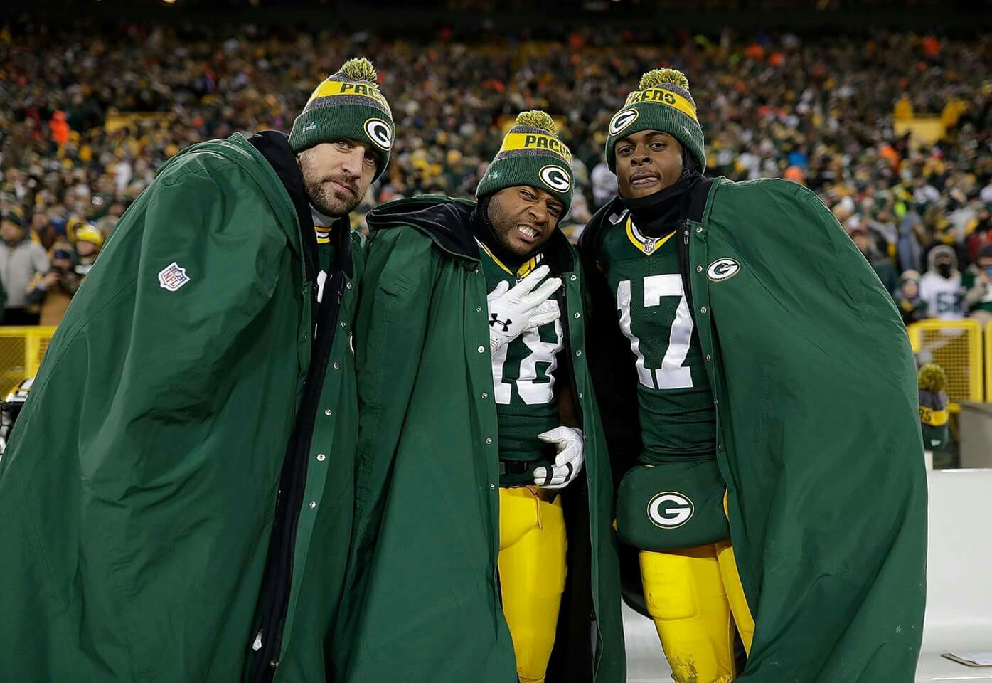 Aaron Rodgers Randall Cobb And Davante Adams Green Bay Packers Clothing Green Bay Packers Football Packers Clothing