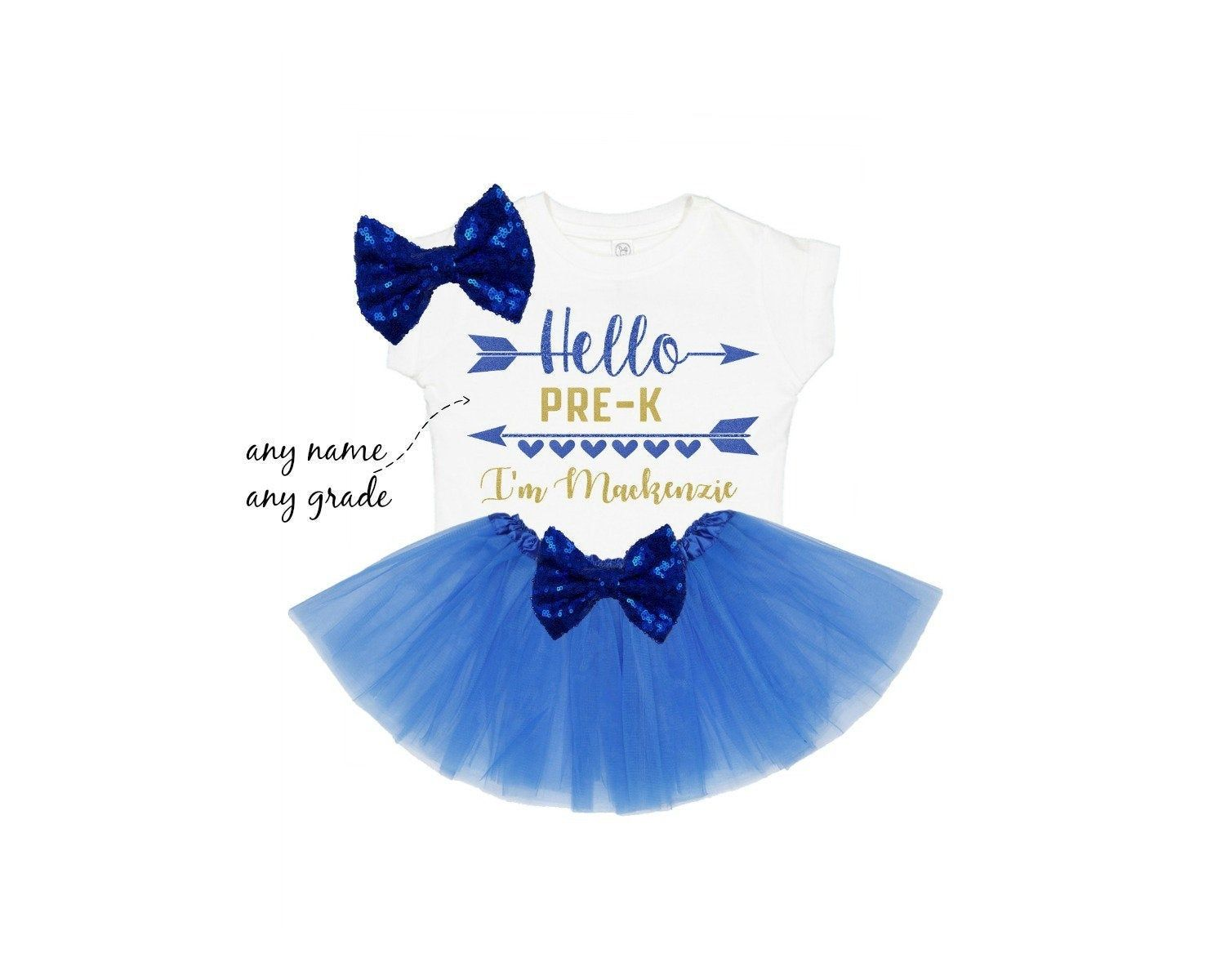 Hello pre k shirt | first day of school outfit | back to school clothes | personalized 1st day of school tee | hello any grade and name #firstdayofschooloutfits