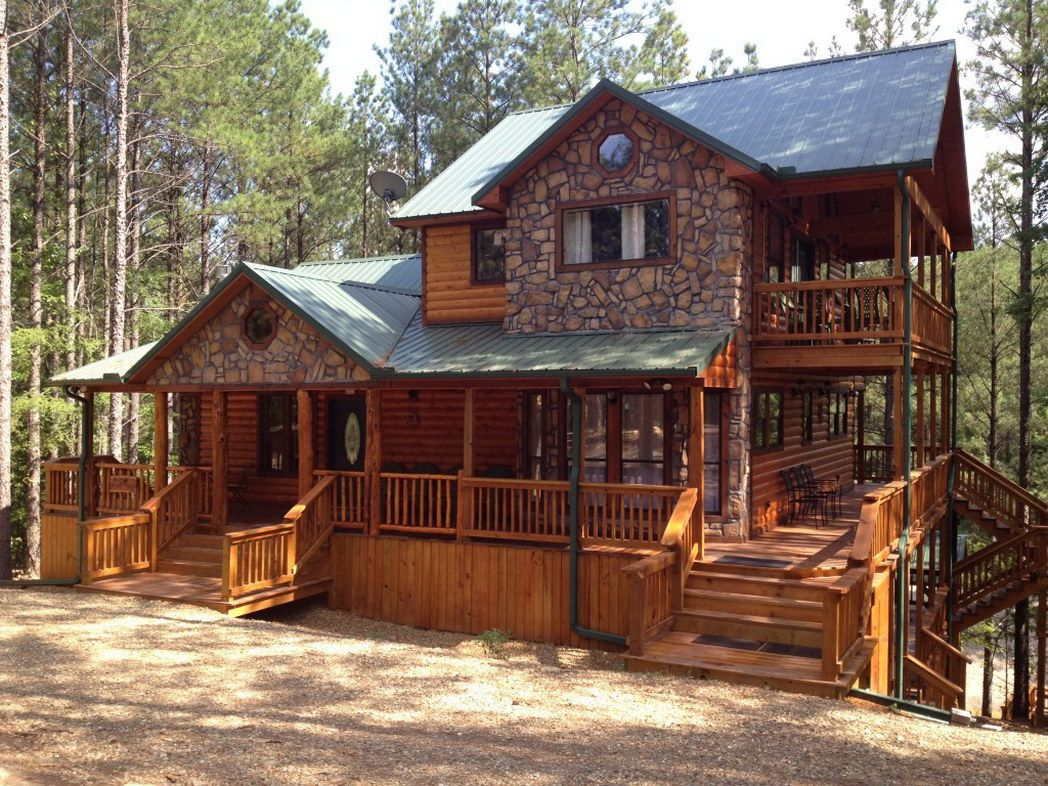 Broken bow adventures oklahoma luxury log cabins rentals for Vacation home plans waterfront
