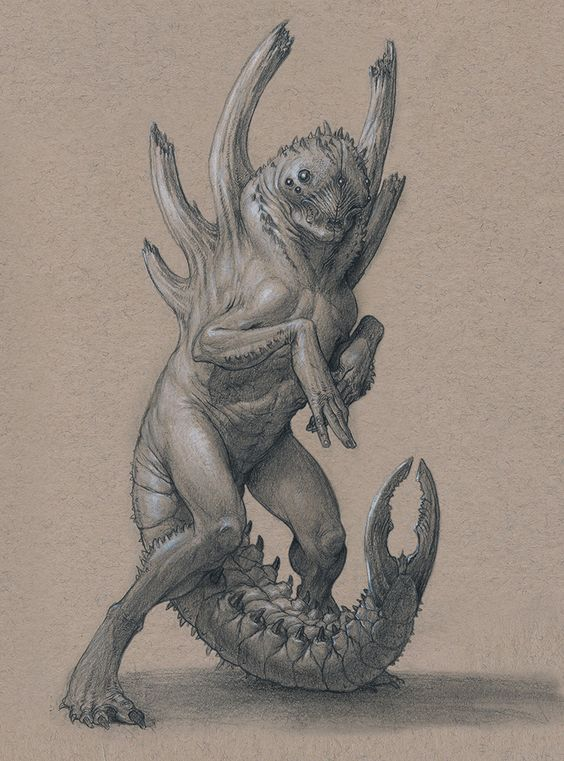 Larval by Mavros-Thanatos beetle insect demon devil monster beast creature…