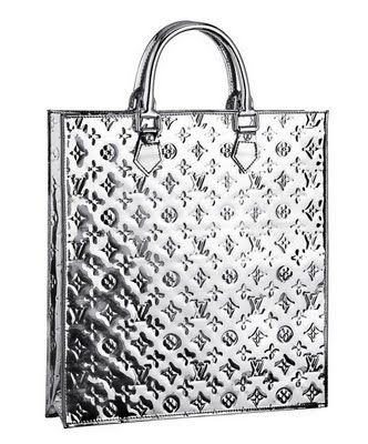 9829af22e655  LV Mirror Sac Plat Silver Colour Monogram Vernis Leather Silver Hardware  Good Conditions ref.code-(KCTS-1)
