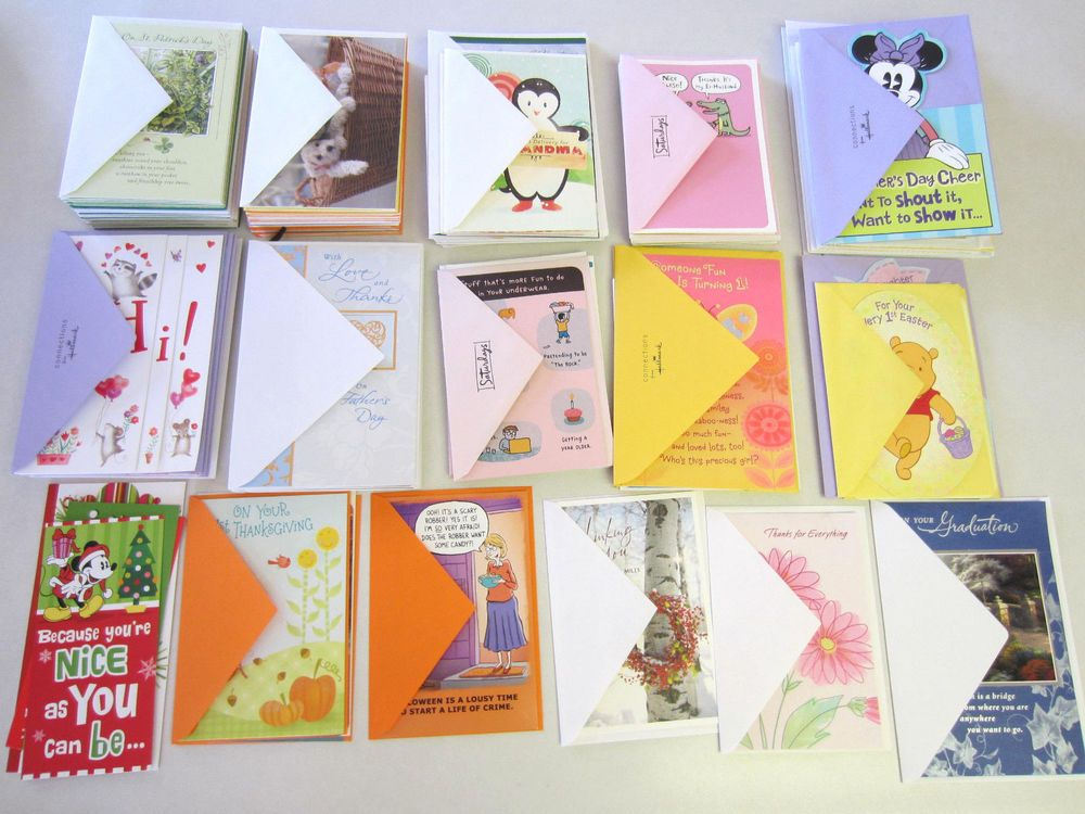 Wholesale Large Lot Hallmark Greeting Cards 158 Birthday Christmas Valentine NEW MixedLot