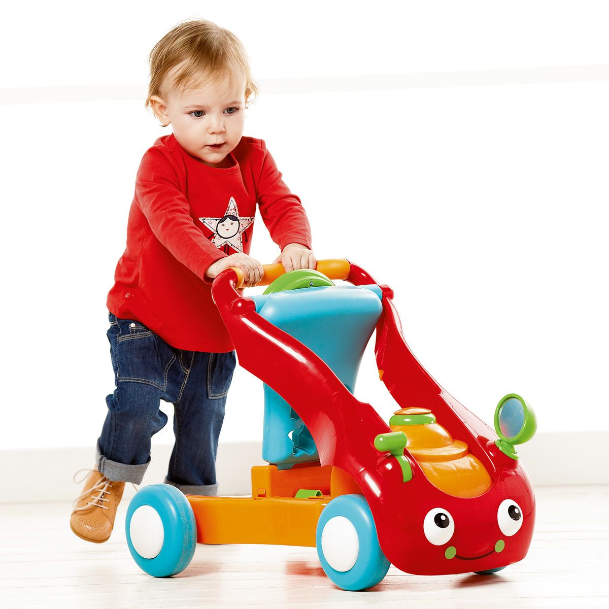 buggy pousseur porteur rouge anddy oxybul pour enfant de 9 mois 3 ans oxybul veil et jeux. Black Bedroom Furniture Sets. Home Design Ideas