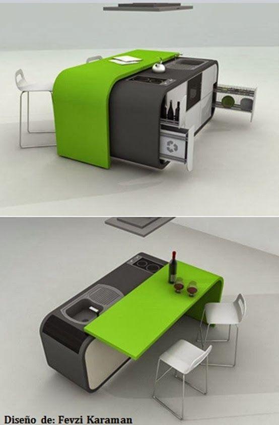 Cocinas Compactas para Espacios Muy Pequeños   Cocina compacta ...