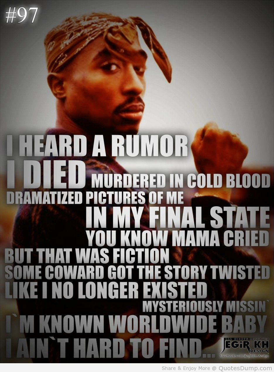 Tupac Quotes Simple Tupac Quotes Famous Tupac Quotes About God Largest Quotes Database