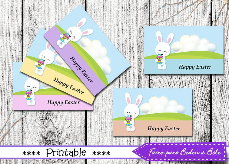 Easter tags easter gift tags printable easter printable tags imprimable tiquettes pques franais anglais et vierge by fairepartbedonabebe on etsy negle Images