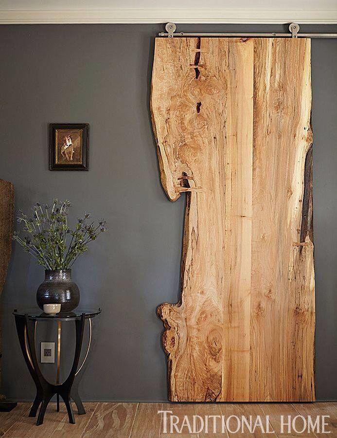 puerta corrediza rstica diseo hogar casa dormitorio madera en bruto