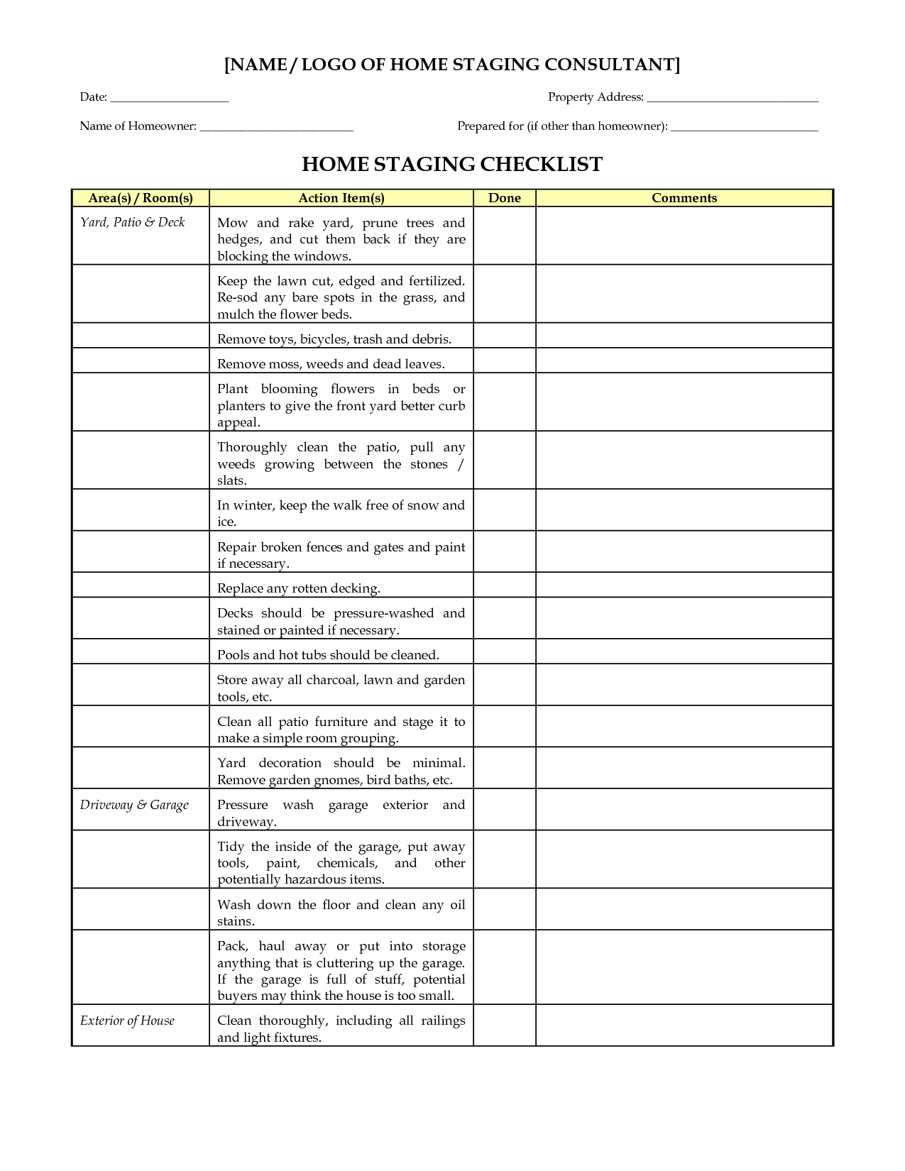 home staging checklist | marketing materials | pinterest | real