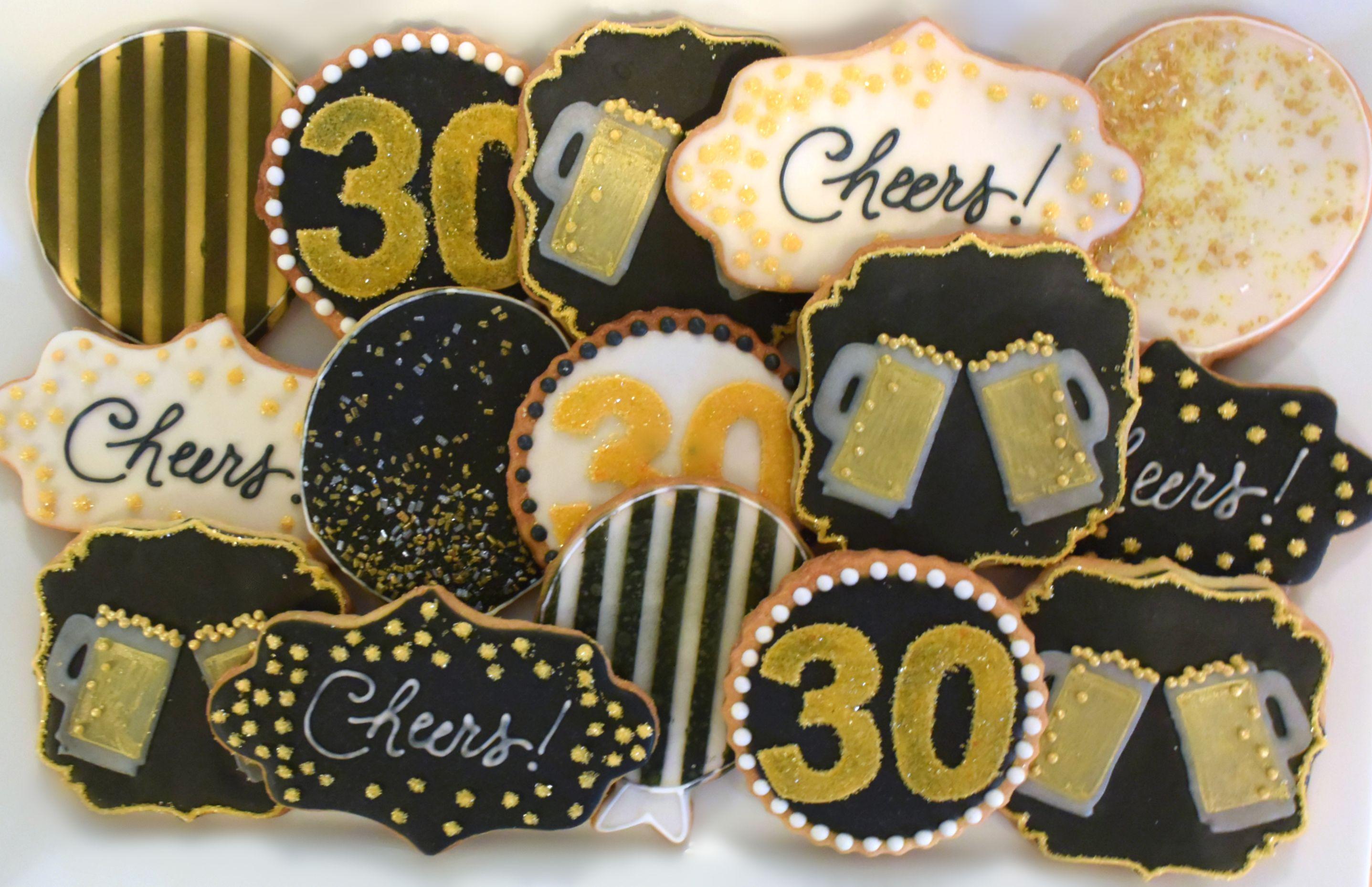 number 17 cookies birthday