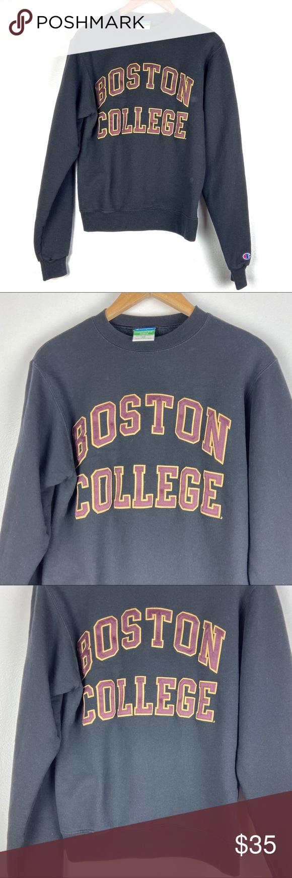 Boston College Sweatshirt Xs Sewn Champion 01401 Sweatshirts College Sweatshirt Sweatshirt Tops [ 1740 x 580 Pixel ]