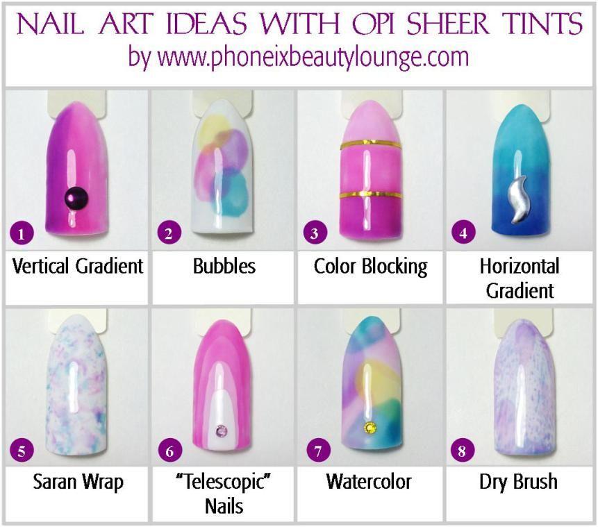 Nail Art Ideas with OPI Sheer Tints | OPI and Sheer nail polish