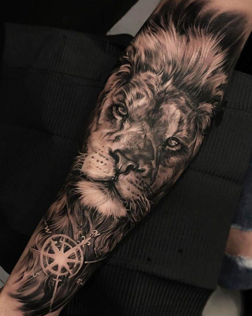 Lion Forearm Tattoos, Lion Tattoo