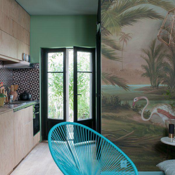 Un studio au look arty Deco interiors, Interiors and Interior colors