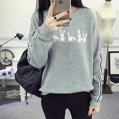 Korean Fashion Girl Cute Loose Sweater Casual Shirt Winter Thicken Blouse Tops