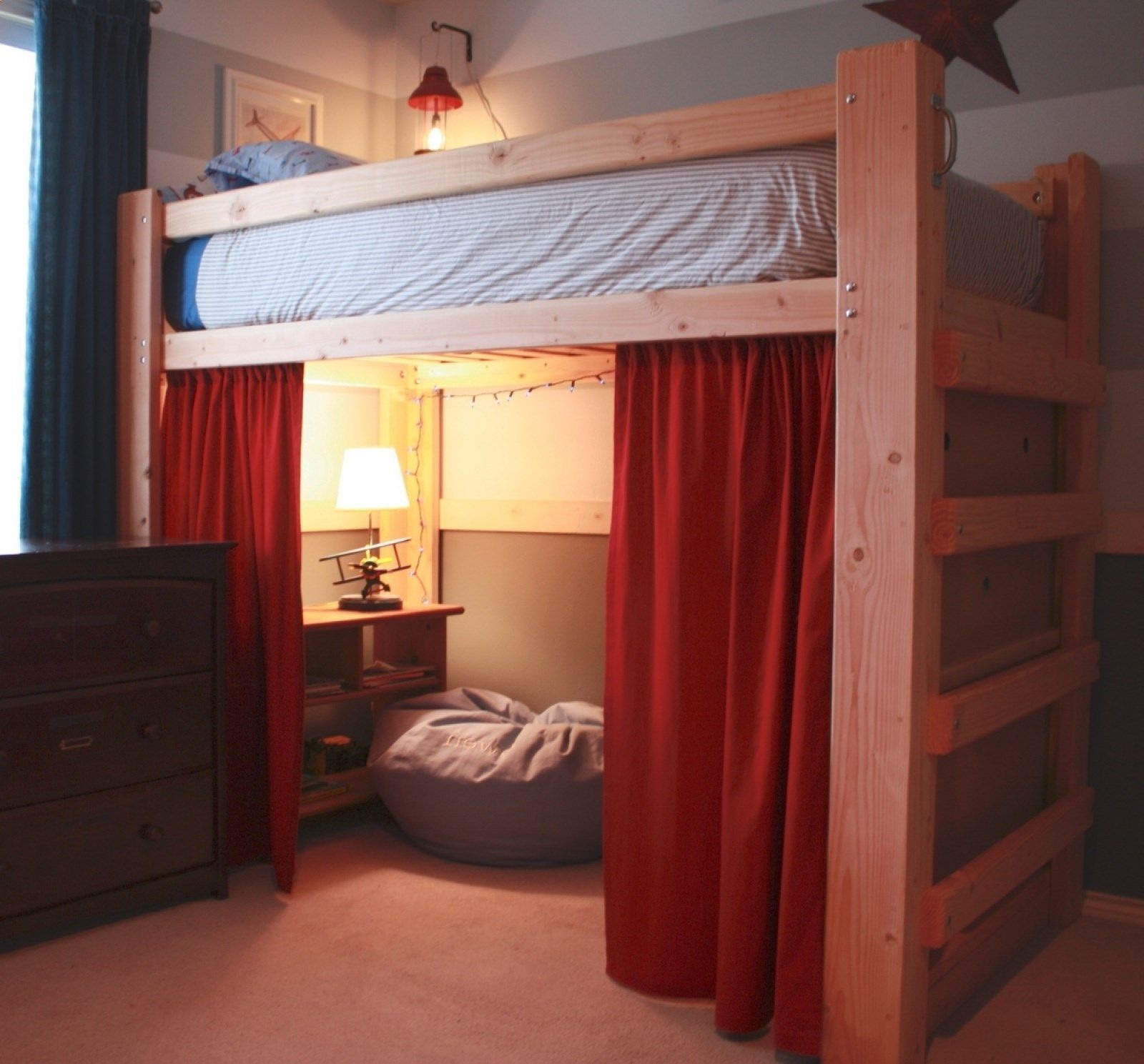 Homemade twin loft bed  Free Diy Full Size Loft Bed Plans Awesome Woodworking Ideas How To